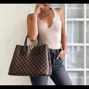 ❤️Auth Louis Vuitton Kensington Damier Ebene Bag